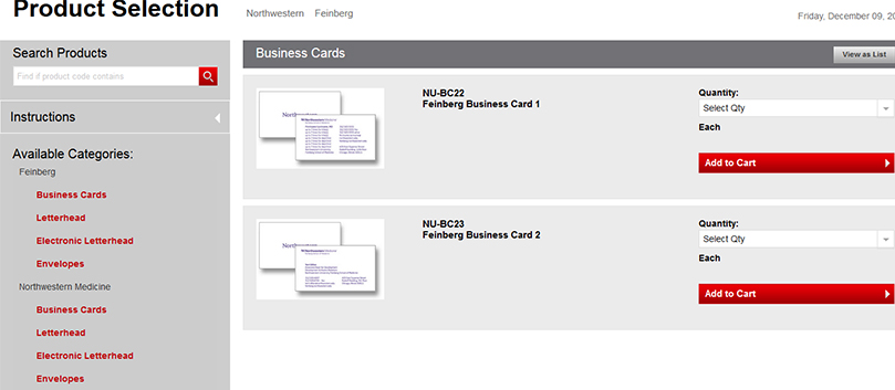 Instructions For Ordering Business Cards Stationery Office Of