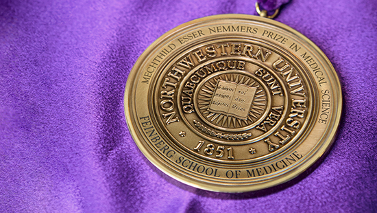 The Nemmers Prize medal