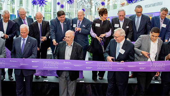 The June 17, 2019 dedication of the Louis A. Simpson and Kimberly K. Querrey Biomedical Research Center marked the official opening of the largest new research building in the United States.