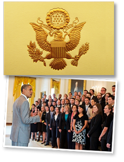 President Obama with 2012 PECASE winners