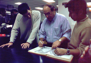 Dr. Tlser with students
